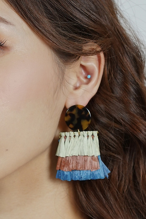 Gwyn Tassel Earrings in Blue-Green - Arriving Soon
