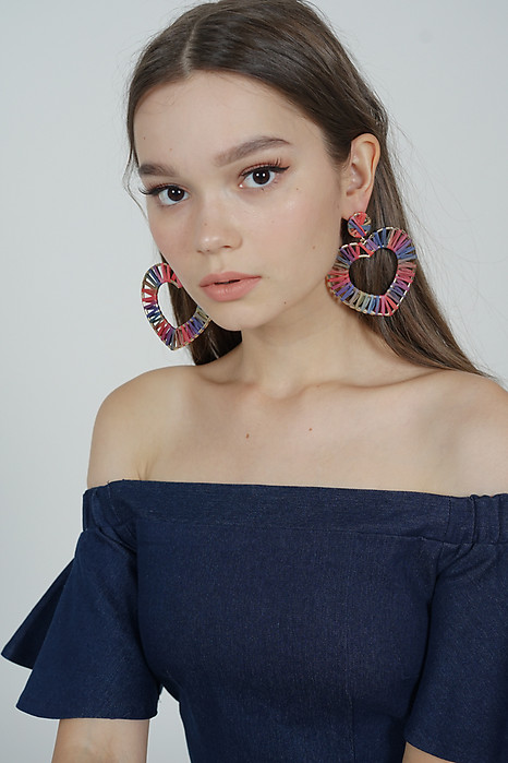 Corazon Earrings in Pink-Blue - Arriving Soon