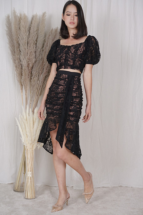 Armin Lace Skirt in Black - Arriving Soon