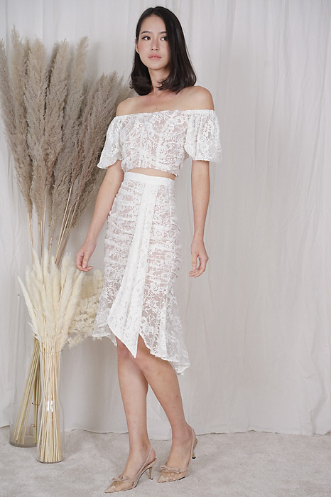 Armin Lace Skirt in White - Arriving Soon