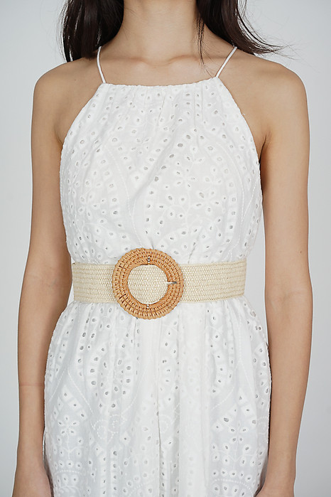 Biddy Straw Belt in Cream - Arriving Soon