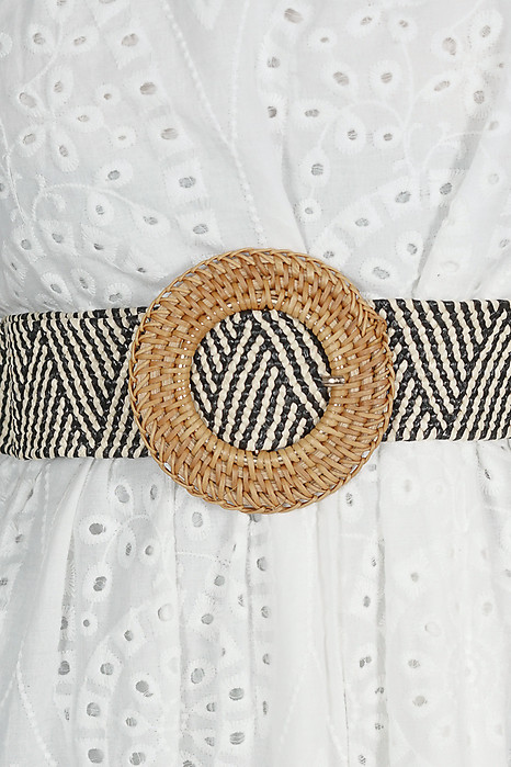Biddy Straw Belt in Stripes - Arriving Soon