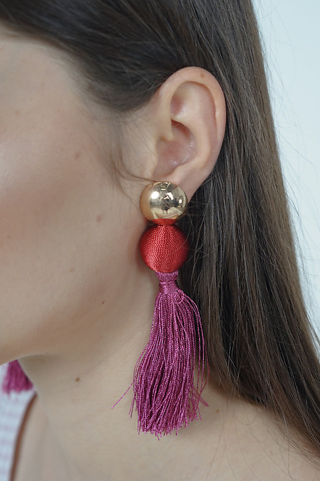 Lantern Tassel Earrings in Scarlet - Arriving Soon