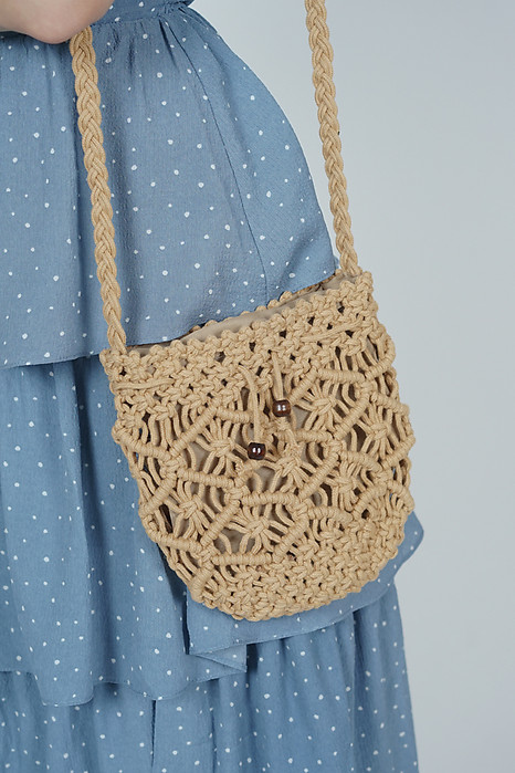Crochet Pineapple Bag in Sand - Arriving Soon