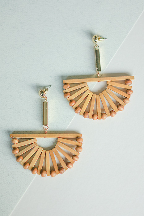 Half-Moon Wooden Earrings - Arriving Soon
