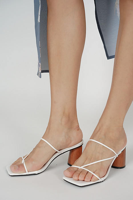 Julienne Heels in White - Arriving Soon