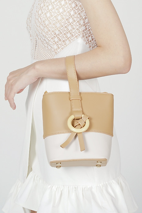 Koti Bucket Bag in Khaki - Arriving Soon