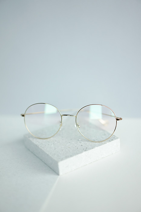 Round Glasses with Gold Tinted Frame - Arriving Soon