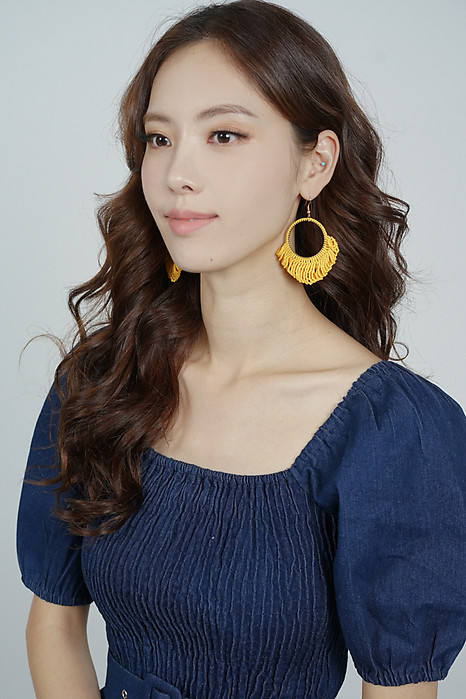 Sola Earrings in Mustard - Arriving Soon