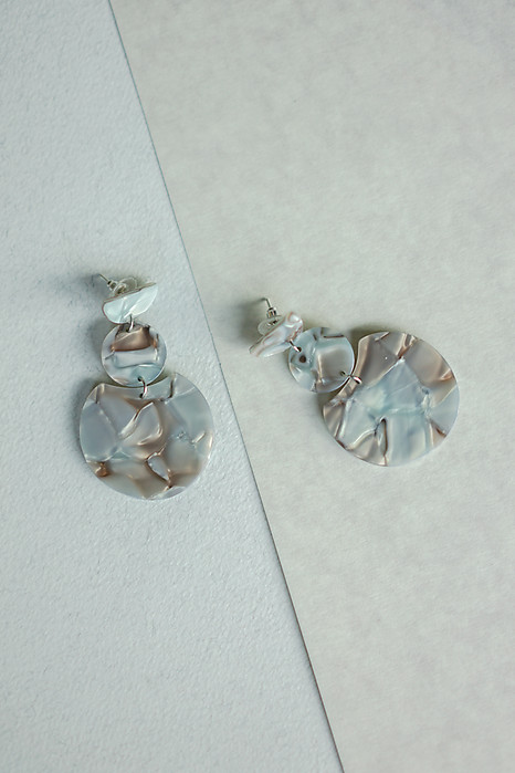 Triple Drop Earrings in Mosaic Grey - Arriving Soon