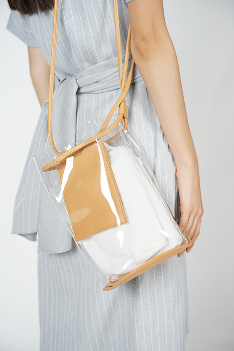 Clear Swing Bag in Tan - Arriving Soon