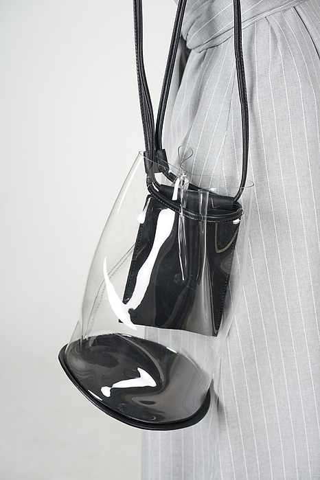Clear Swing Bag in Black - Arriving Soon