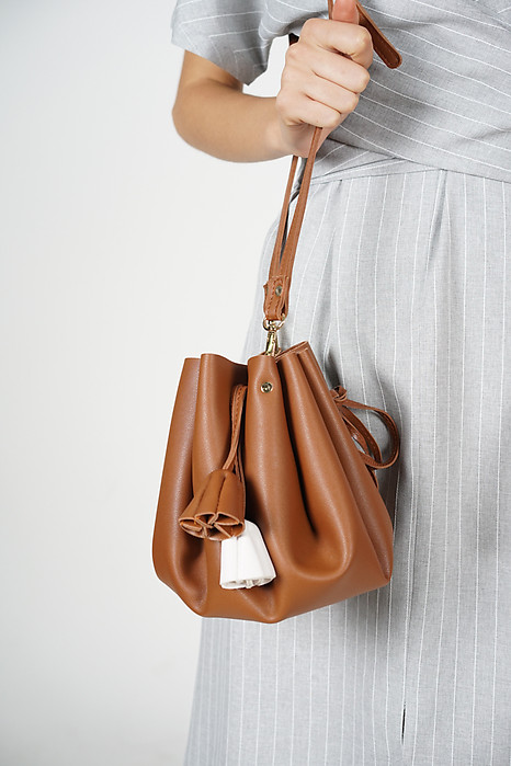 Bloom Bucket Bag in Brown - Arriving Soon
