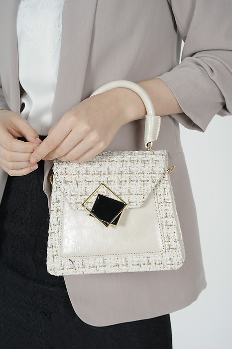 Stormy Tweed Bag in White - Arriving Soon