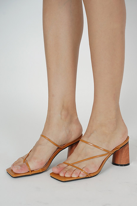 Julienne Heels in Tan - Arriving Soon