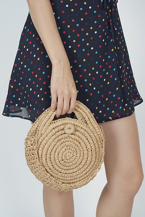 Circle Beach Bag in Sand - Arriving Soon