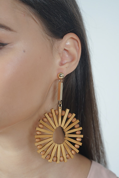 Wooden Disc Earrings - Arriving Soon