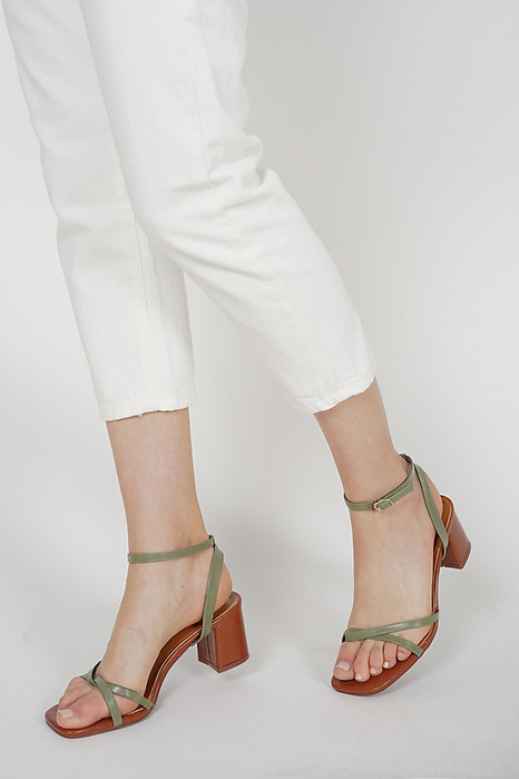Josie Strappy Pumps in Olive - Arriving Soon