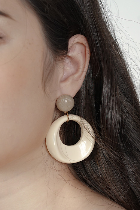 Amaya Earrings in Cream - Arriving Soon