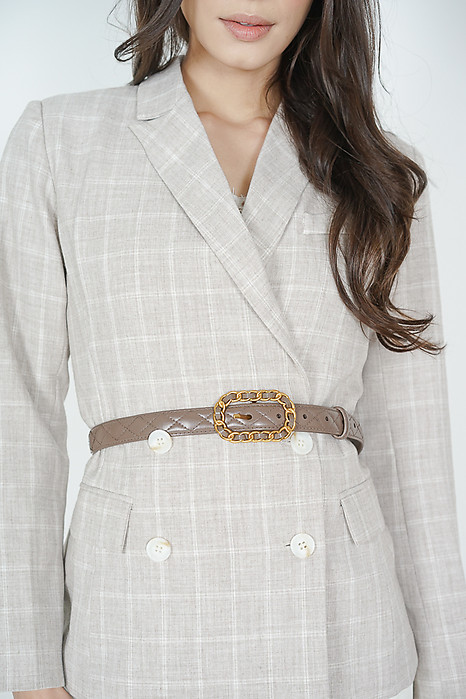Hermian Quilted Belt in Blush