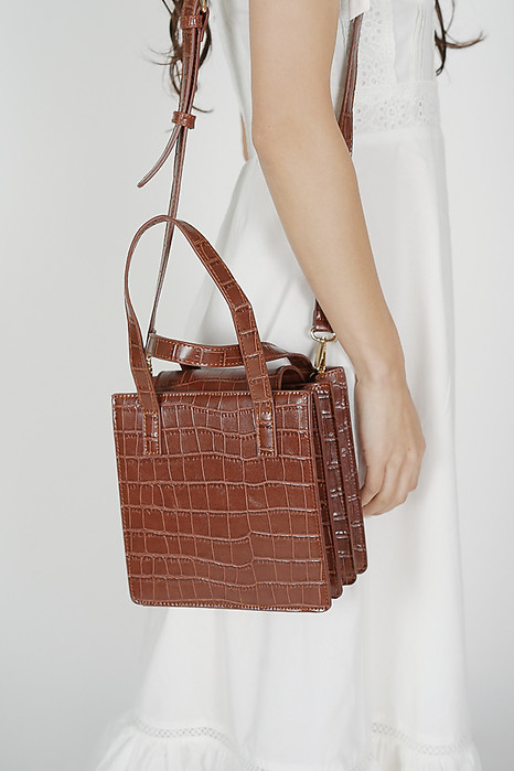 Fabio Square Bag in Brown - Arriving Soon