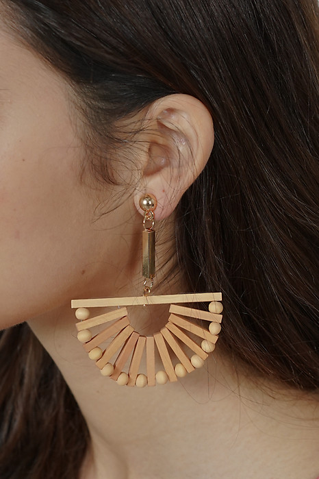 Half-Moon Wooden Earrings