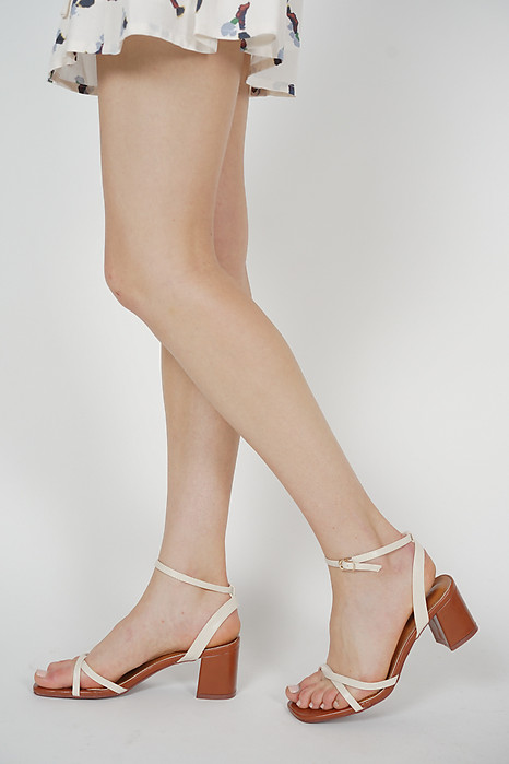Josie Strappy Pumps in Ivory - Arriving Soon