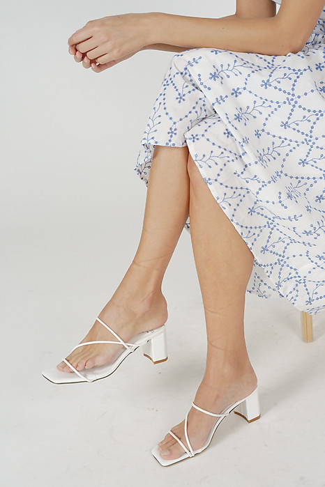 Dosia Heels in White - Arriving Soon