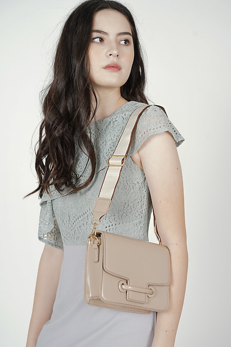 Ashery Squared Bag in Nude - Arriving Soon