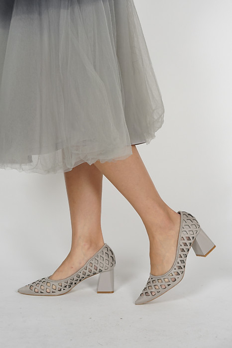 Joey Mesh Pumps in Grey - Arriving Soon