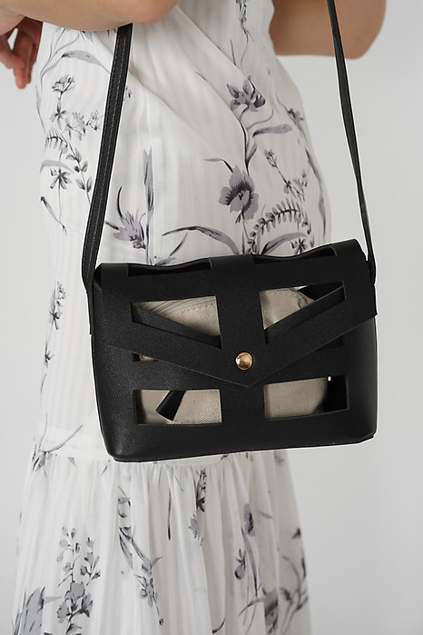 Alyxa Cutout Bag in Black - Arriving Soon