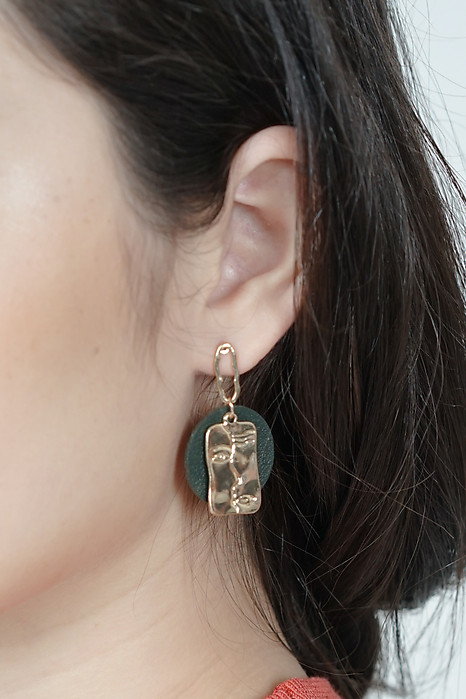 Sydnee Leather Earrings in Gold - Arriving Soon