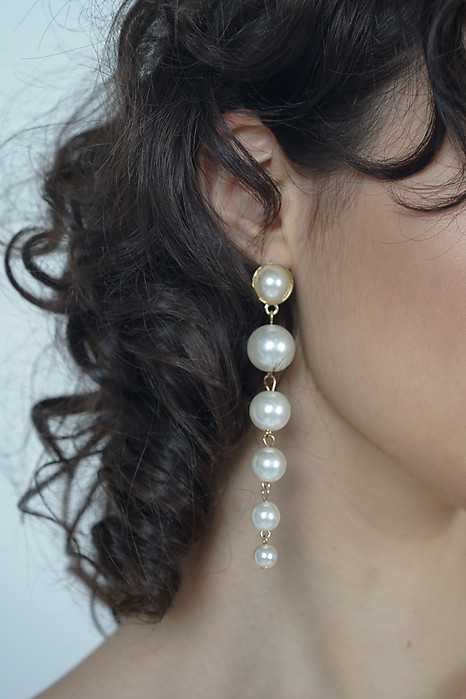 Bella Pearl Drop Earrings - Arriving Soon