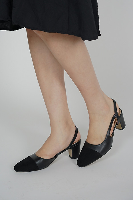 Signature Pumps in Black - Arriving Soon