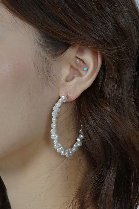 Dunya Earrings in Pearl - Arriving Soon