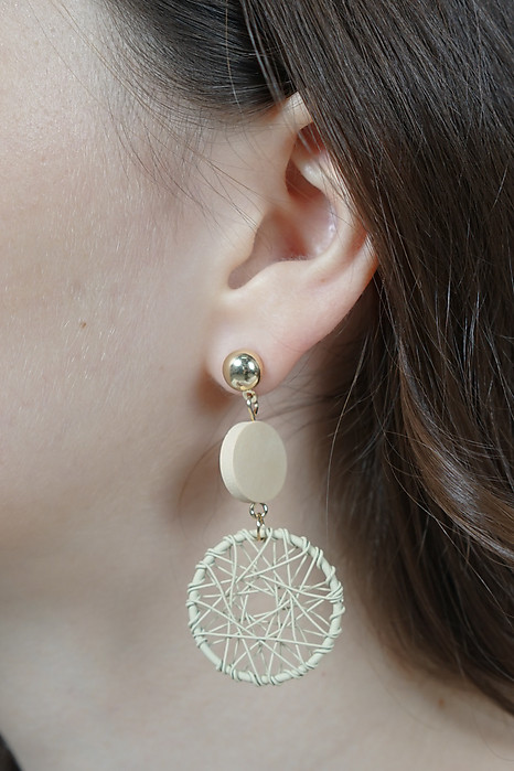 Dreamweaver Earrings in Cream -  Arriving Soon
