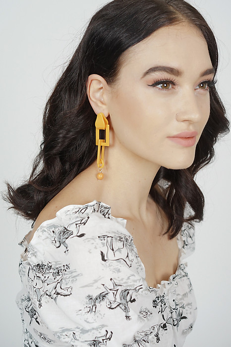 Sierra Link Earrings in Mustard - Arriving Soon