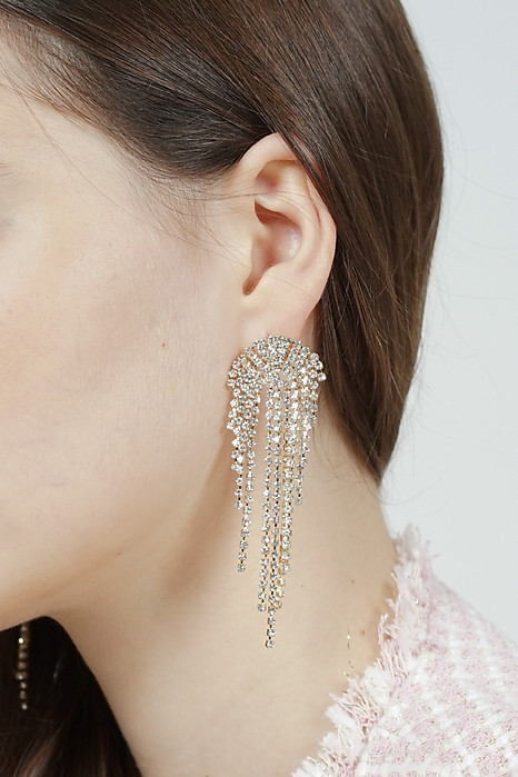 Chandelier Earrings in Light Gold -  Arriving Soon