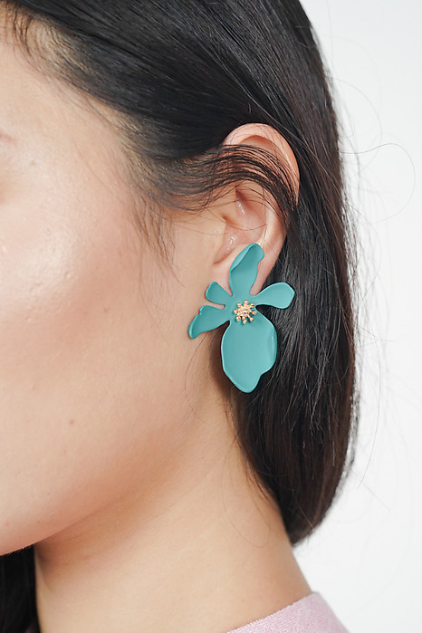 Orchid Lover Earrings in Teal - Arriving Soon