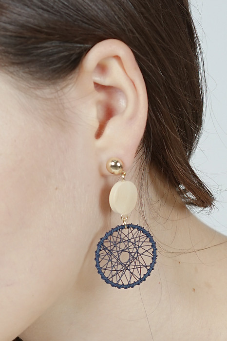 Dreamweaver Earrings in Navy -  Arriving Soon