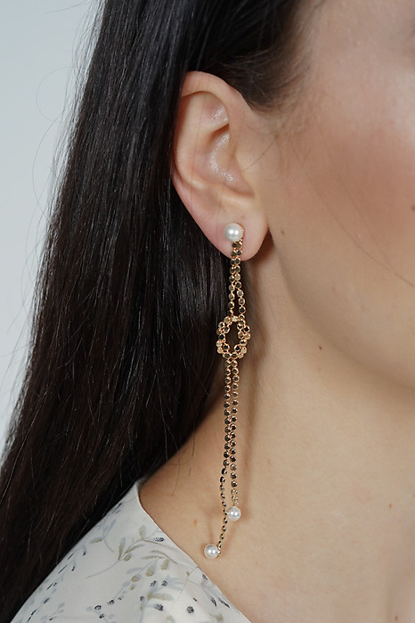 Taluna Gold Drop Earrings - Arriving Soon
