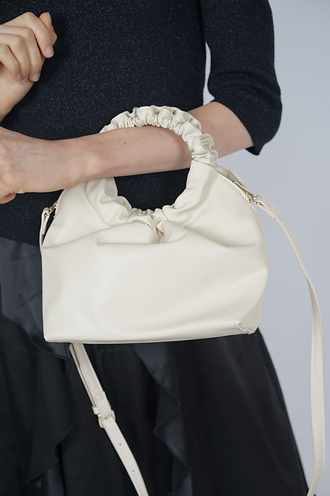 Scrunchie Handle Bag in Ivory - Arriving Soon