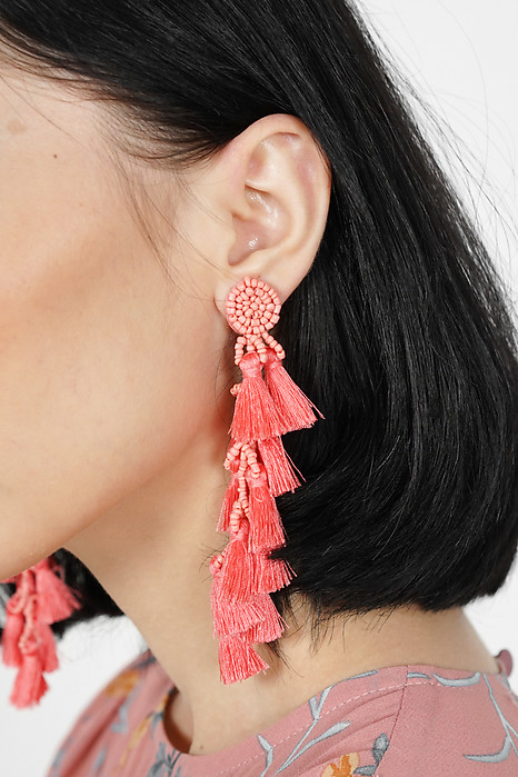 Ina Tassel Earrings in Pink -  Arriving Soon