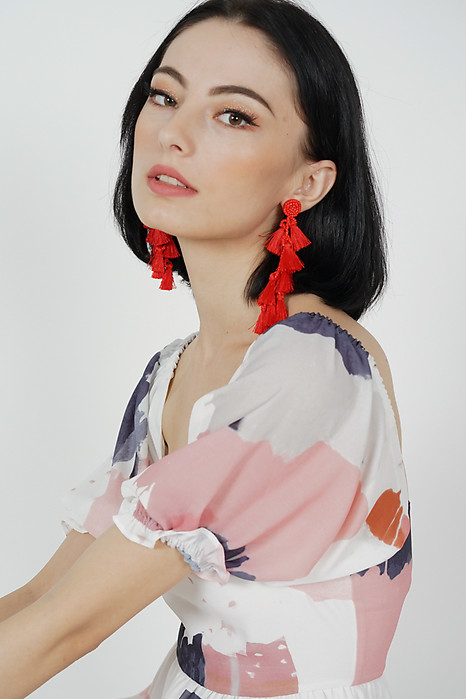 Ina Tassel Earrings in Red -  Arriving Soon