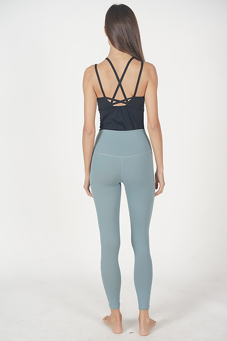 Hi-Rise Yoga Pants in Teal