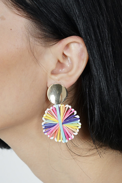 Vola Earrings in Pink Stripes -  Arriving Soon