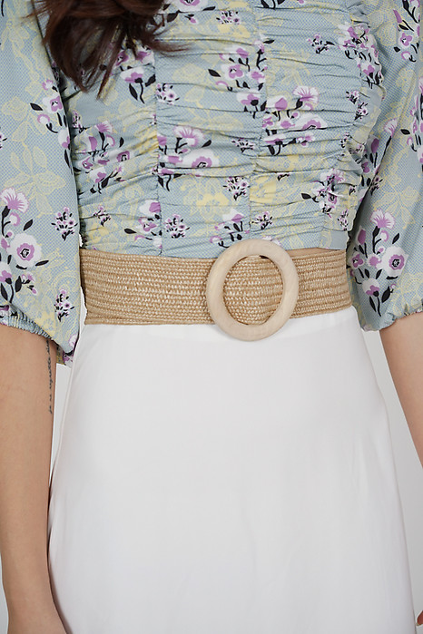 Wynlei Woven Belt in Beige - Arriving Soon