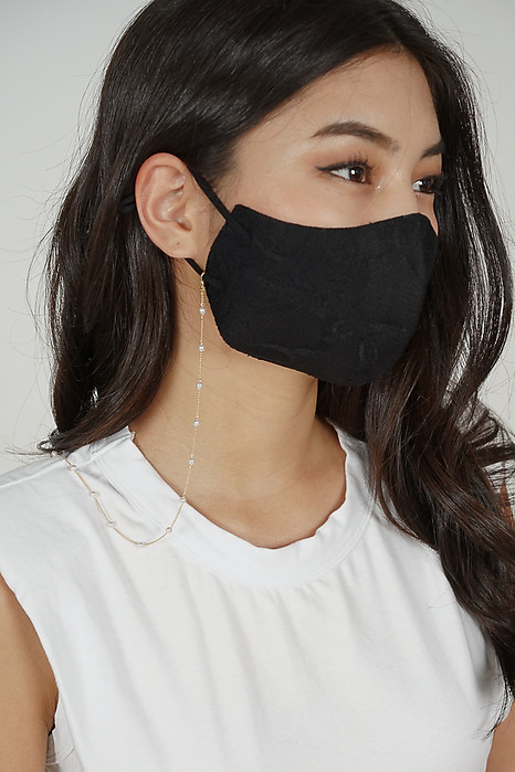 Yazmin Lace Mask in Black