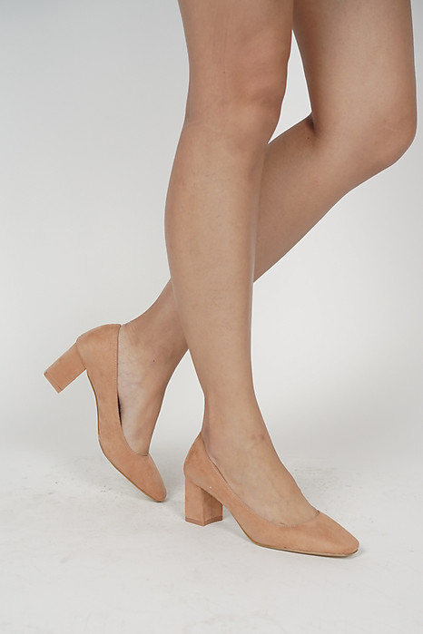 Aria Square Pumps in Nude Pink - Arriving Soon