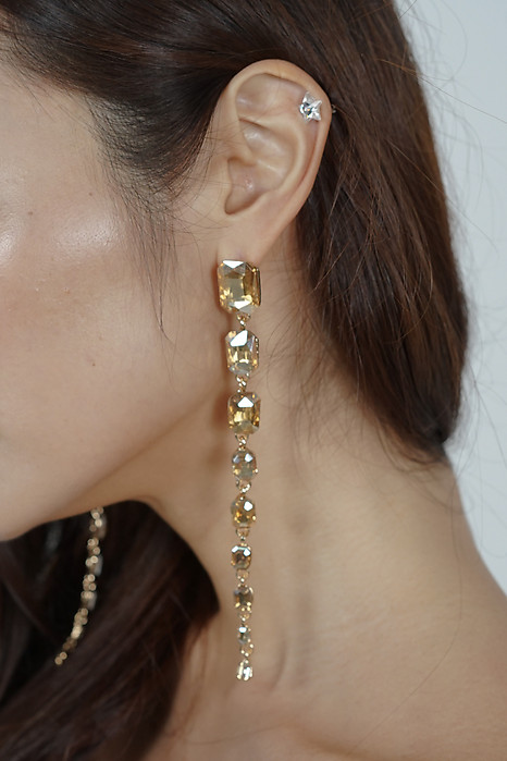 Angela Crystalline Earrings in Amber - Arriving Soon